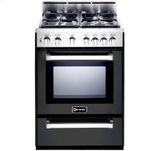 "Matte Black 24"" Gas Range"