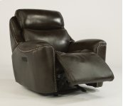 Mystic Leather Power Gliding Recliner with Power Headrest