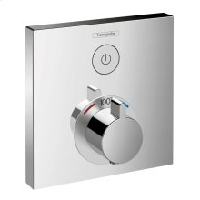 Chrome Thermostatic Trim for 1 Function, Square