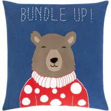 "Bundle Up Bear BUB-001 18"" x 18"""