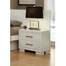 Jessica Contemporary Two-drawer Nightstand