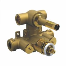 Rough Valve Only Two Outlet Dual Handle Therm Valve