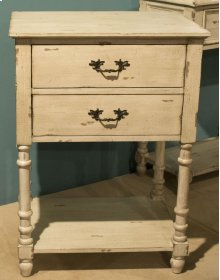 2 Drawer Antique Washed Accent Cabinet