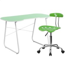 Green Computer Desk and Tractor Chair