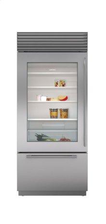 """36"""" Built-In Over-and-Under Glass Door Refrigerator/Freezer"""