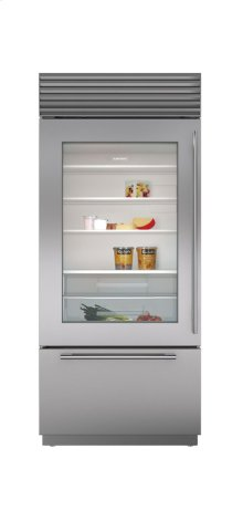"36"" Built-In Over-and-Under Glass Door Refrigerator/Freezer"