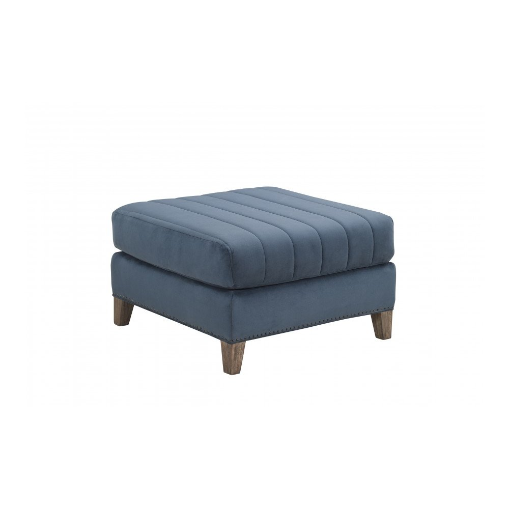 Pierce Indigo Matching Ottoman
