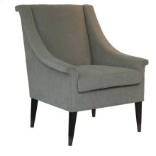 Wellington Upholstered Beige Arm Chair with Wood and Metal Cap Feet