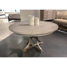 """Willow 60"""" Round Dining Table - Pewter"""