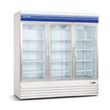 52 cu ft 3 Door Merchandiser Freezer (White)