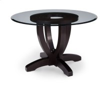 Brookfield Single Pedestal Table with Glass Top, Glass Top