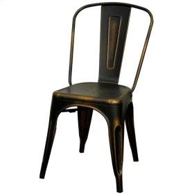 Metropolis Metal Side Chair, Distressed Copper