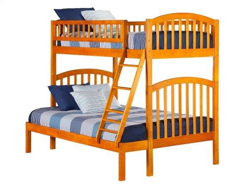 Richland Bunk Bed Twin over Full in Caramel Latte