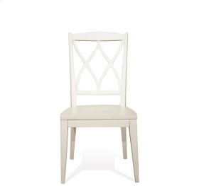 Myra XX-Back Side Chair Paperwhite finish