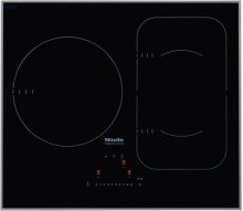 KM 6320 Induction cooktop with touch controls with PowerFlex cooking area for maximum versatility and performance.