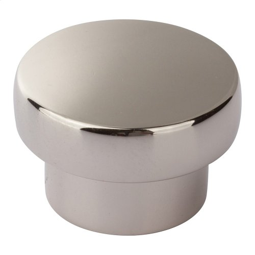 Chunky Round Knob Large 1 13/16 Inch - Polished Nickel