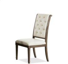 Verona Upholstered Back Side Chair Dark Sienna finish