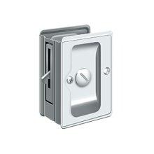 "HD Pocket Lock, Adjustable, 3 1/4""x 2 1/4"" Privacy - Polished Chrome"