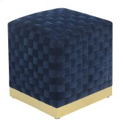 Emerald Home U1108-03sq-04 Jamison Square Ottoman, Navy Product Image