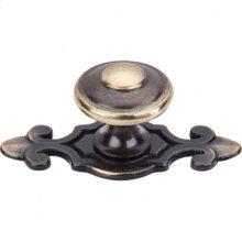 Canterbury Knob 1 1/4 Inch w/Backplate - Dark Antique Brass