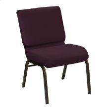 Wellington Amethyst Upholstered Church Chair - Gold Vein Frame