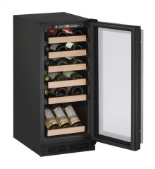 "1000 Series 15"" Wine Captain® Model With Black Frame Finish and Field Reversible Door Swing"