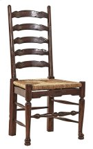 English Country Ladderback Side Chair Product Image