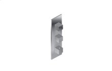 M-Series Square Thermostatic 3-Hole Trim Plate and Handle