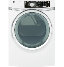 Floor Model Clearance! GE® 8.1 cu. ft. capacity Front Load gas dryer with steam Display Model