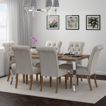 Natalia/Melia 7pc Dining Set, Beige