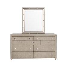 Sutton Place Dresser Mirror in Grey Oak