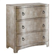 Claremont 3 Curved Drawer Brushed Linen Finish Chest