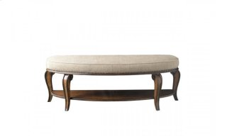 Continental Bed Bench - Weathered Nutmeg
