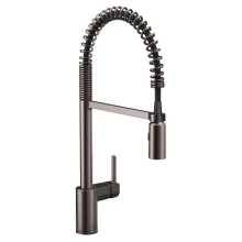 Align black stainless one-handle pulldown kitchen faucet