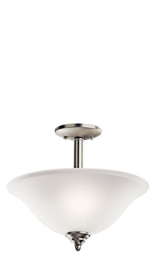 Armida 2 Light Convertible Inverted Pendant Brushed Nickel