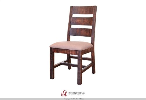 Chair w/Ladder back, with fabric seat and solid wood