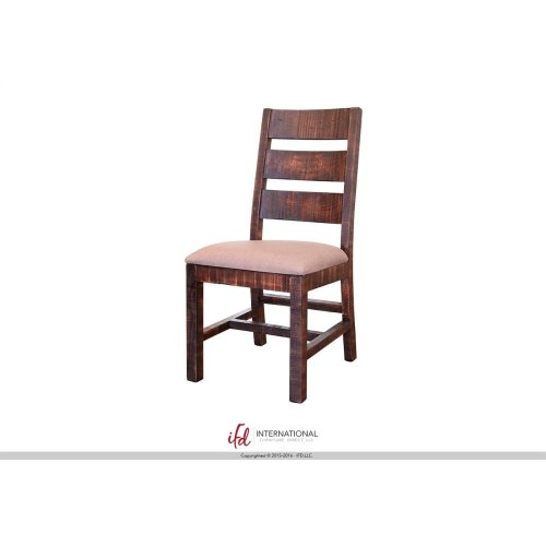 Chair w/Ladder back, with fabric seat and solid wood**