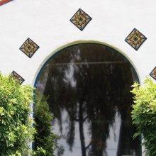 "6"" Geraniums Decorative Talavera Tiles"
