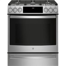 Slide-In Front Control Premium Stainless Steel Appearance, 5.6 cu. Ft. Self-Cleaning Convection Gas Range