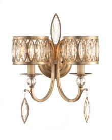 Marquise Crystal Two-Light Wall Sconce