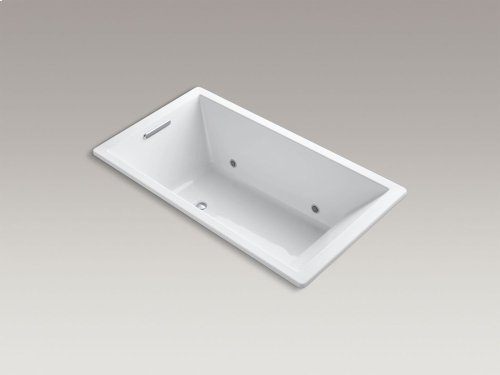 "White 66"" X 36"" Drop-in Vibracoustic Bath With Bask Heated Surface and Chromatherapy"