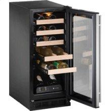 "Stainless Field reversible 1000 Series / 15"" Wine Captain® / Signature Triple Temperature Zone Design ** FLOOR SAMPLE **"
