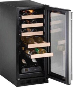"Stainless Field reversible 1000 Series / 15"" Wine Captain® / Signature Triple Temperature Zone Design-CLOSEOUT"