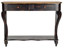 Katie Console With 2 Storage Drawer - Tiger Dark Brown / Light Brown