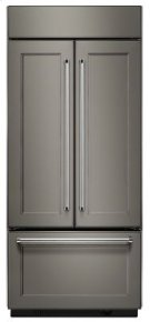 """20.8 Cu. Ft. 36"""" Width Built In Panel Ready French Door Refrigerator with Platinum Interior Design Product Image"""