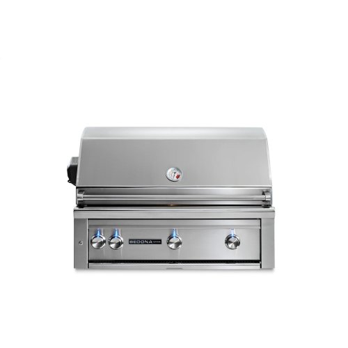 """36"""" Sedona by Lynx Built In Grill with 2 Stainless Steel Burners and ProSear Burner and Rotisserie, NG"""