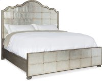 Arabella Queen Mirrored Panel Bed Product Image