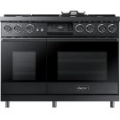 "48"" Pro Dual-Fuel Steam Range, Graphite Stainless Steel, Liquid Propane Product Image"