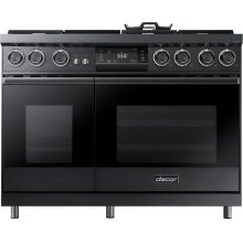 "48"" Pro Dual-Fuel Steam Range, Graphite Stainless Steel, Liquid Propane/High Altitude"
