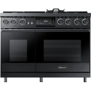 "Dacor48"" Pro Dual-Fuel Steam Range, Graphite Stainless Steel, Natural Gas"